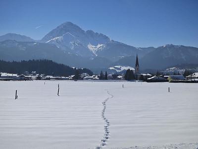 snowy scenery at Reutte in Tirol - 01/03/13.