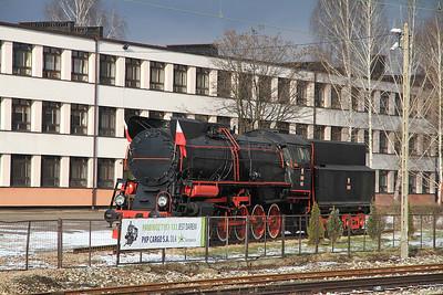 PKP Ty51 133 plinthed at Sosnowiec Gł - 08/02/13.