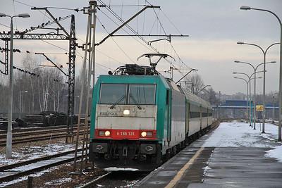 Railpool 186131 arr Sosnowiec Gł, KS-40027 1507 Częstochowa-Katowice - 08/02/13.