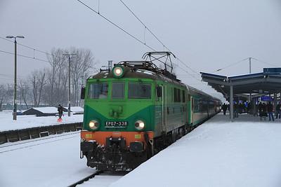 PKP EP07 338, Warszawa Zachodnia, I-14102 0430 Białystok-Rybnik - 08/02/13.