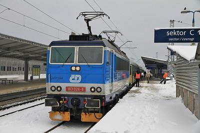 ČD 163026 (On hire to PKP), Warszawa Wschodnia, IR-16127 1053 to Wrocław - 08/02/13.