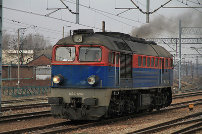 Kolprem M62 1202, Chorzów Batory, coming off a freight - 08/02/13.
