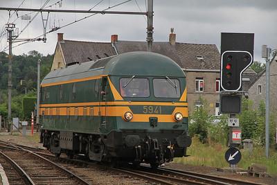 PFT 5941, Ciney, running round  - 17/08/13.