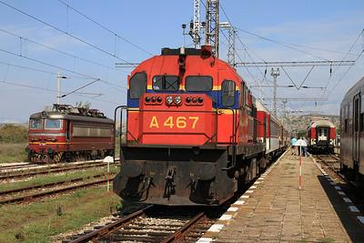 OSE A467, Kulata, 7651 PTG 'Rail Wonders of Northern Greece' Day 1 - 14/09/14.