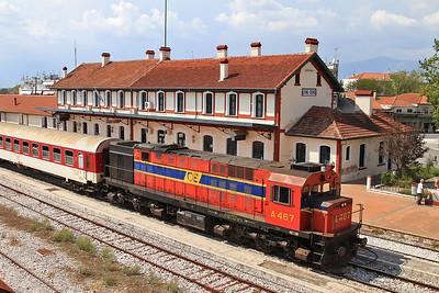 OSE A467, Drama, 7670 PTG 'Rail Wonders of Northern Greece' Day 1 - 14/09/14.