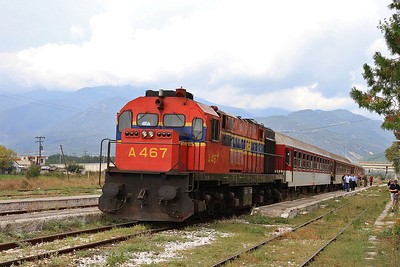 OSE A467, Strimon, 7651 PTG 'Rail Wonders of Northern Greece' Day 1 - 14/09/14.