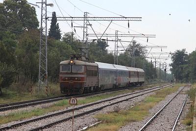 BDŽ 45149 passes Strumiani, MBV360 06.55 Thessaloniki-Sofia - 14/09/14.