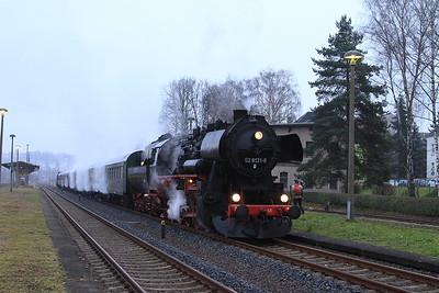 IGDN 52 8131, Nossen, DPE80334 08.05 'Dampfsonderzug' to Neuhausen (Erzgb) - 06/12/14.