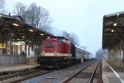 WFL 110101, Nossen, on rear of DPE80334 08.05 'Dampfsonderzug' to Neuhausen (Erzgb) - 06/12/14.