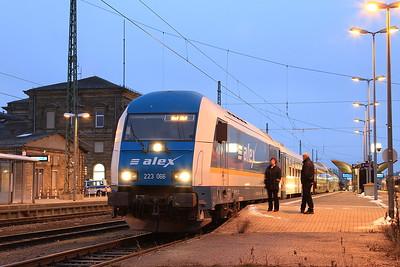 ALEX 223066, Hof Hbf, ALX84108 12.44 ex München - 06/12/14.