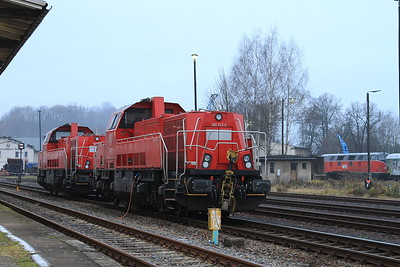 DB 265013 / 265002, Nossen, (WFL Lok 20, 228501 can be seen on the left) - 06/12/14.