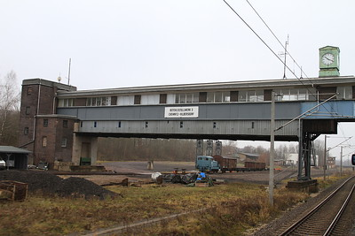 Preserved signalbox at Chemntiz Hilbersdorf - now a museum - 06/12/14.