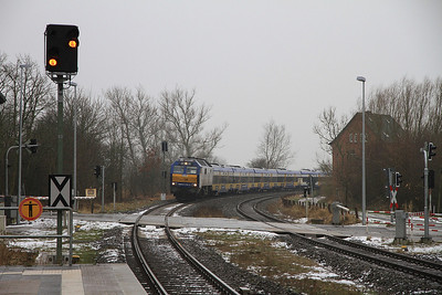 Veola 251008 arr Friedrichstadt, NOB81708 09.33 Hamburg Altona-Westerland (Sylt) - 01/02/14.