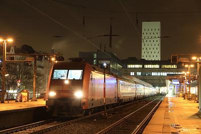 DB 101039, Hamburg Altona, EN491 20.20 to Wien West - 01/02/14.