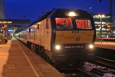 Veola 251005, Hamburg Altona, NOB81704 07.33 to Westerland (Sylt) - 01/02/14.