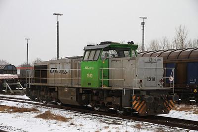 CFL Cargo 1510, Niebhüll, presumably on hire to DB - 01/02/14.
