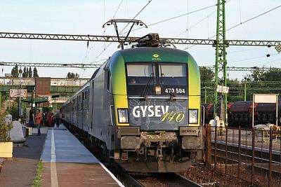 GYSEV 470504, Tatabánya, 9208 18.38 Budapest Keleti-Szombathely - 28/06/14.