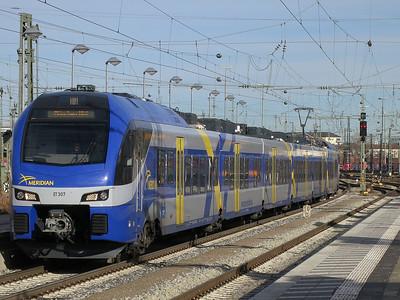 New Meridian EMU ET307 arr München Ost, M79024 11.12 Salzburg-München - 06/01/14.