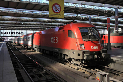 ÖBB 1116 141, München Hbf, EC113 08.22 Frankfurt (Main)-Klagenfurt - 24/02/14.