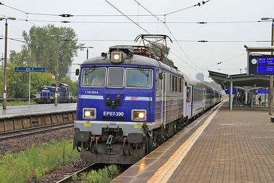 PKP EP07 390, Warszawa Zachodnia, I-19102/3 07.52 Warszawa Wsch.-Łodź Kaliska - 08/08/14.