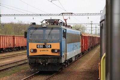 MÁV 630138, Sárvár, Westbound freight  - 05/04/14.