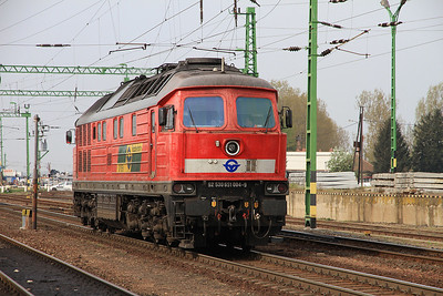 DB (on hire to GYSEV) 651004 (232598), Csorna, backing onto the Szombathely portion of IC912  - 05/04/14.