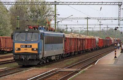 MÁV 630011, Sárvár, Westbound freight  - 05/04/14.