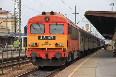 MÁV 418197, Szombathely, 8904 13.08 to Pécs  - 05/04/14.