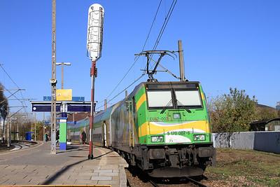 KM EU47 007, Warszawa Zachodnia, KM15607, 13.53 to Ciechanów - 24/10/14.