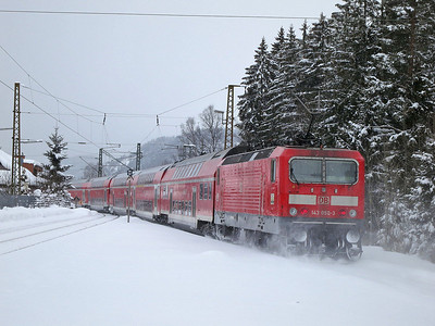 DB 143050 dep Hinterzarten, RB26930 10.39 Seebrugg-Freiburg(Brsg) - 01/02/15.