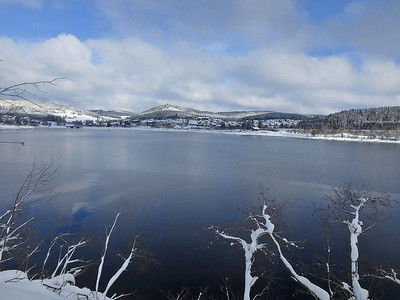 Looking towards Schluchsee from the other side of the lake - 03/02/15.