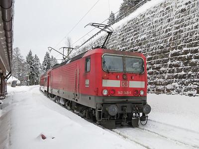DB 143145, Seebrugg, RB26930 1039 to Freiburg(Brsg) - 03/02/15