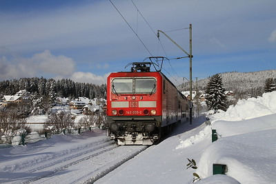 DB 143055 arr Schluchsee, RB26923 09.10 Freiburg(Brsg)-Seebrugg - 04/02/15.