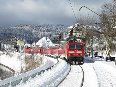 DB 143055 (+ 143042 rear), Schluchsee, RB26945 13.10 Freiburg(Brsg)-Seebrugg - 03/02/15.