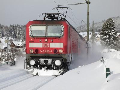DB 143042 arr Schluchsee, RB26923 09.10 Freiburg(Brsg)-Seebrugg - 02/02/15.