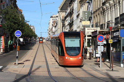 Trams outside Le Mans station - 30/10/15.