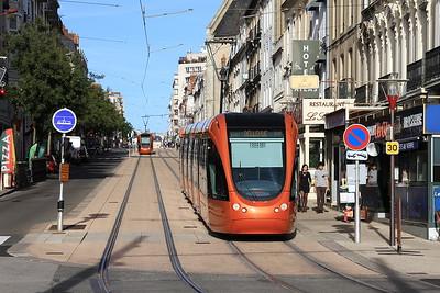 Trams outside Le Mans station - 30/10/15.