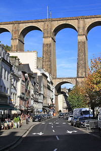 View of Morlaix viaduct from the town below - 31/10/15.