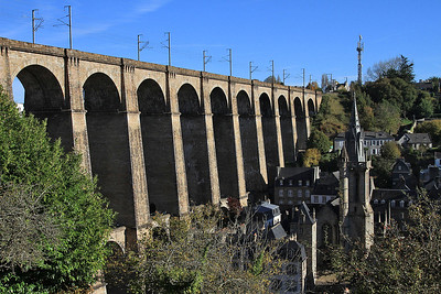 View of Morlaix viaduct - 31/10/15.