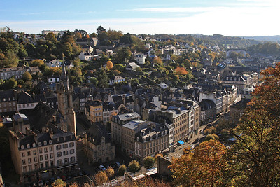 View of Morlaix town from the station above - 31/10/15.