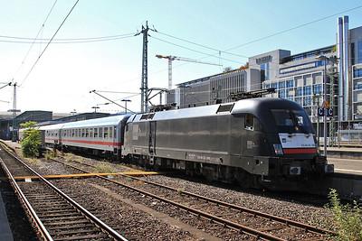 Dispolok 182598, Stuttgart Hbf, IC2572 14.40 to Münster (Westf) - 01/10/15.