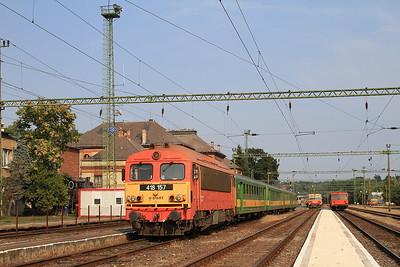 MÁV 418157, Kaposvár, S18806 17.05 to Szombathely - 14/08/15.