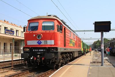 DB (on hire to GYSEV) 651008 (232682), Keszthely, 19807 09.05 ex Szombathely - 14/08/15.