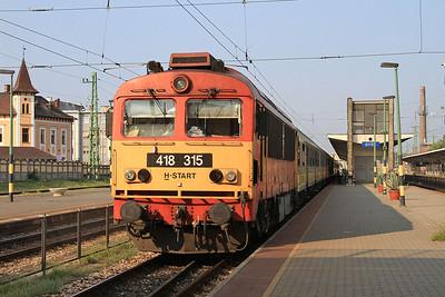 MÁV 418315, Győr, 9200 06.38 Budapest Keleti-Szombathely - 14/08/15.