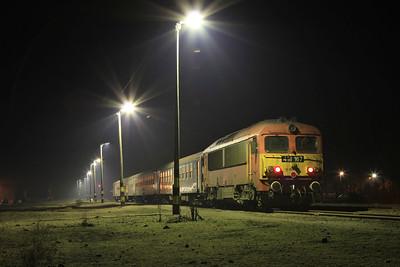 MÁV 418167, Csenger, 36251 19.05 FO to Mátészalka - 13/02/15.