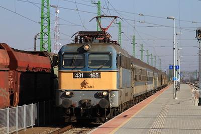 MÁV 431165 arr Püspökladány, 6205 10.03 Zahony-Budapest Nyugati - 13/02/15.