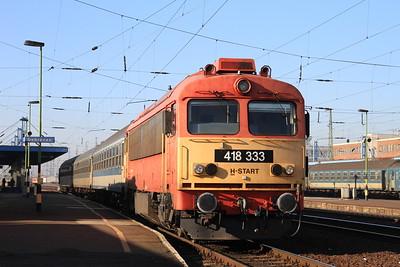MÁV 418333, Debrecen, 6814 11.12 to Valea Lui Mihai - 14/02/15.
