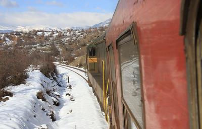 MŽ 661236 leaving Teovo, IR641 06.42 Skopje-Bitola - 10/01/15.