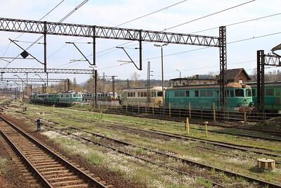 Stored PKP locos's of classes SM42 / ST43 / SU46 / ET21 / ET41 outside Jelenia Góra depot - 24/04/15.
