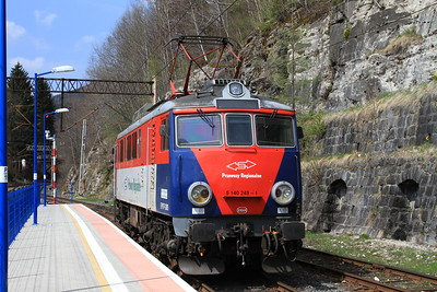 PKP EP07P 2005 running round at Sklarska Poręba Górna - 24/04/15.